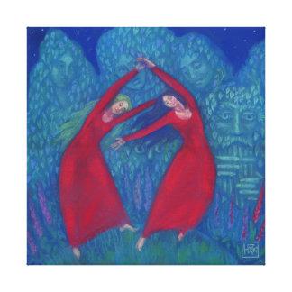 Toile Danse des sorcières, peinture en pastel, art