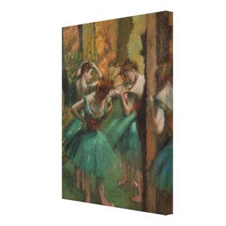 Toile Danseurs d'illustration de ballet roses et Edgar