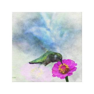 Toile d'aquarelle de colibri