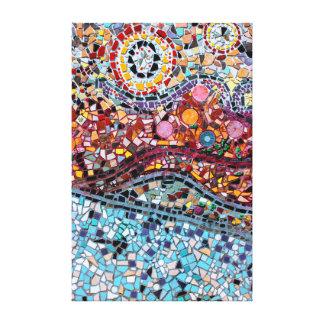 Toile d'art vibrante de mur de mosaïque