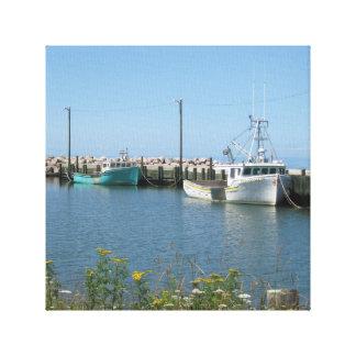 Toile de bateaux de pêche de Bridgetown la