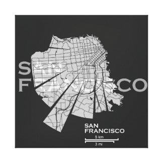 Toile de carte de San Francisco