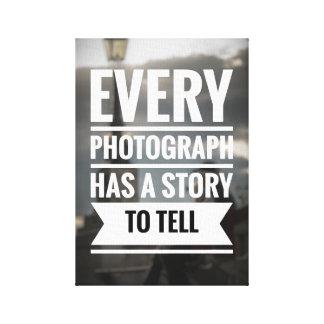 Toile de citation de photographie
