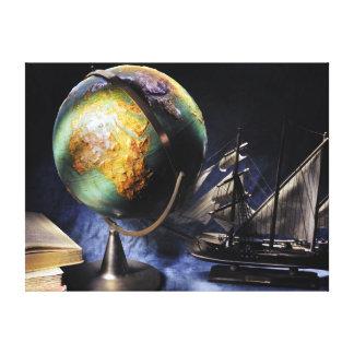 Toile De cru toujours la vie avec le globe