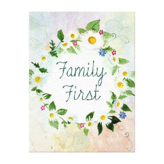 Toile De famille citation inspirée d'abord