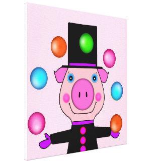 Toile de jonglerie de porc