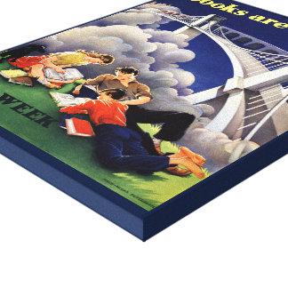 Toile de la semaine du livre de 1946 enfants