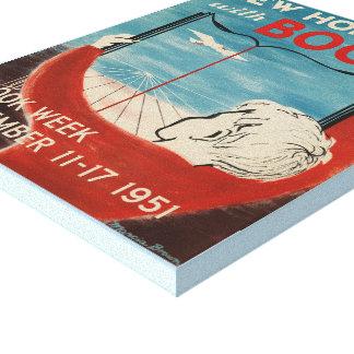 Toile de la semaine du livre de 1951 enfants