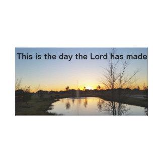 Toile de lever de soleil avec l'écriture sainte