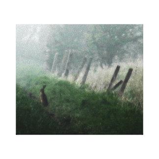 """Toile de photo de beaux-arts """"les lièvres que j'ai toiles"""