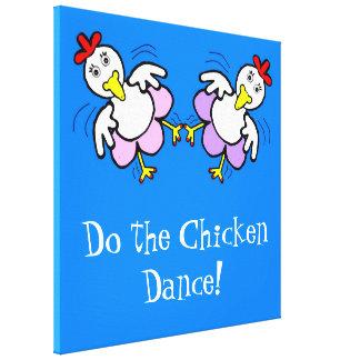 Toile de poulets de danse