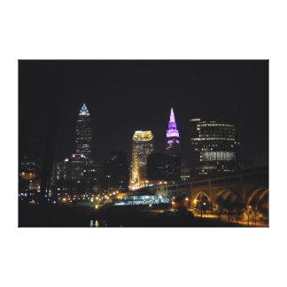 Toile de pourpre de vue de rivière de Cleveland OH