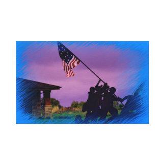 Toile de soldats du Kansas USA