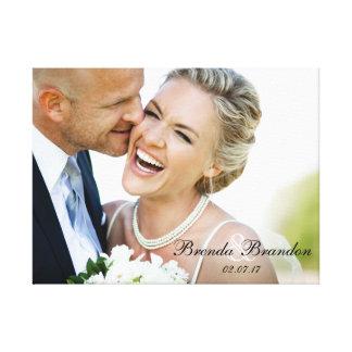 Toile de souvenir de photo de mariage toiles
