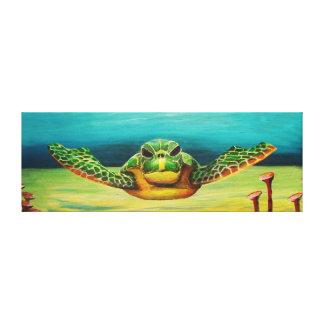 Toile de tortue de mer de natation