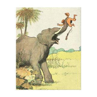 Toile Dessin de livre de contes d'éléphant et de