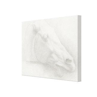 Toile Dessin vintage de portrait principal blanc léger