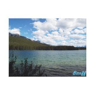 Toile Deux lacs Jake, Banff, Canada
