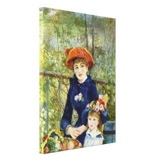 Toile Deux soeurs (sur la terrasse) par Pierre Renoir