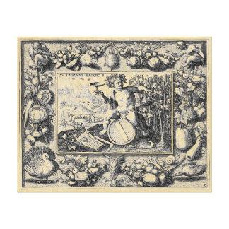 Toile Dieu de Bacchus de vin