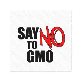 Toile Dites NON à GMO