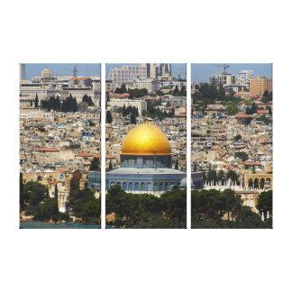 Toile Dôme de Jérusalem du paysage urbain de roche