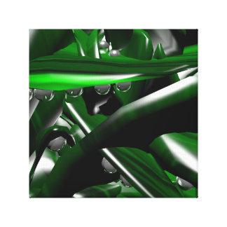 Toile donnez à la pierre verte de malachite avec des