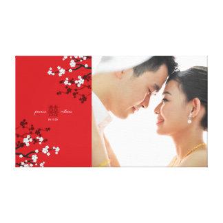 Toile Double art de photo de mariage de bonheur de