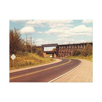 Toile Doubles ponts en chemin de fer