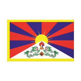 Toile Drapeau de drapeau de lion du Thibet ou de la