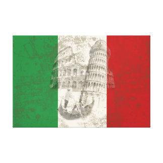 Toile Drapeau et symboles de l'Italie ID157