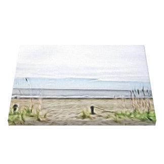 Toile Dunes côtières de mer de la Caroline du Nord