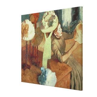 Toile Edgar Degas   le magasin d'articles de modes,