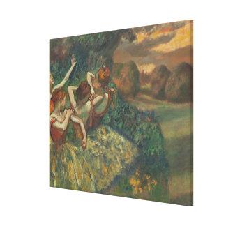 Toile Edgar Degas   quatre saisons dans l'une tête,