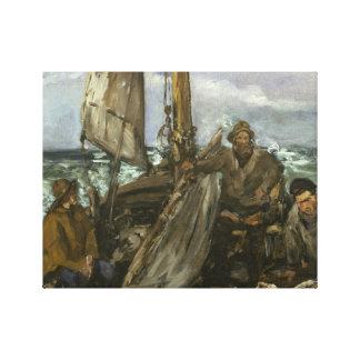 Toile Edouard Manet - les Toilers de la mer