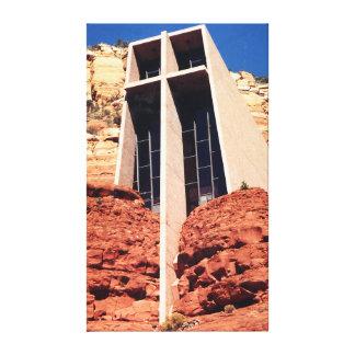 Toile Église dans les roches - Sedona