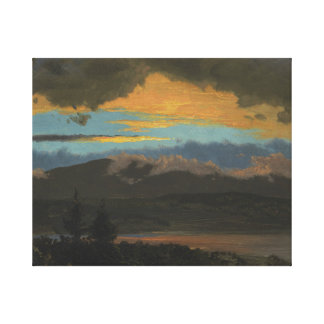Toile Église de Frederic Edwin - coucher du soleil à