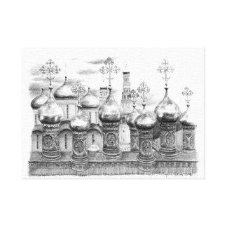 Toile Églises de Kremlin par Svetlana Ledneva-Schukina