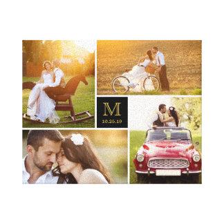 Toile élégante de collage de photo de mariage de toiles