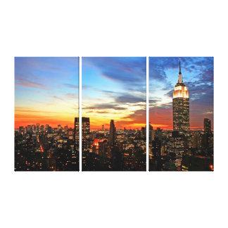 Toile Empire State Building au coucher du soleil
