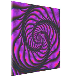 Toile en spirale pourpre d'échelle