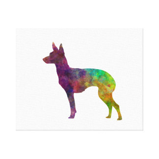 Toile English Toy Terrier in watercolor