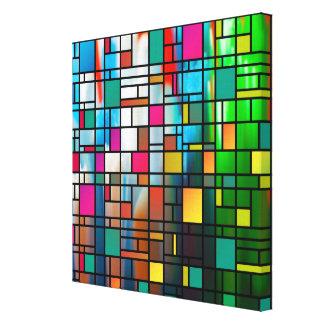 Toile enveloppée abstraite de motif de grille