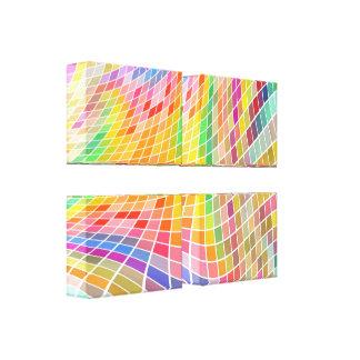 Toile enveloppée Art-Personnalisable colorée de ca Toiles