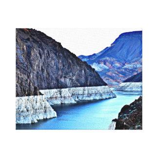 Toile enveloppée - barrage de Hoover de thro du