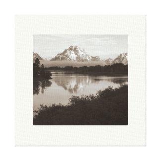 Toile enveloppée grande de parc national de Teton