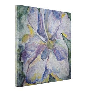 Toile enveloppée par copie florale pourpre