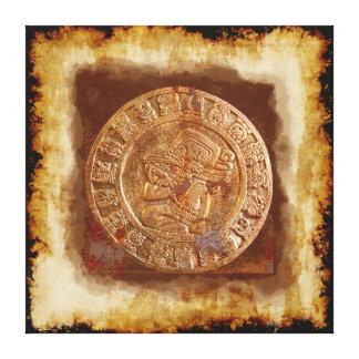 Toile enveloppée par disque découpée maya antique