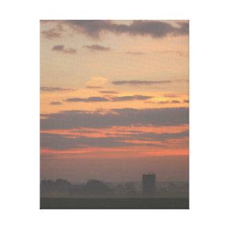 Toile enveloppée par galerie de lever de soleil de