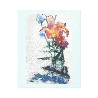 Toile enveloppée par jjhelene de fleurs sauvages